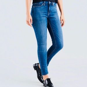 Levi's 311 high rise shaping skinny mid wash jeans